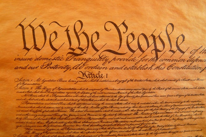 The U.S. Constitution was written during the Philadelphia Convention — now known as the Constitutional Convention — which convened from May 25 to Sept. 17, 1787. It was signed on the final day.