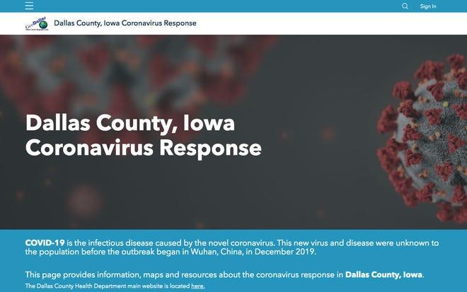 Dallas County COVID-19 dashboard.