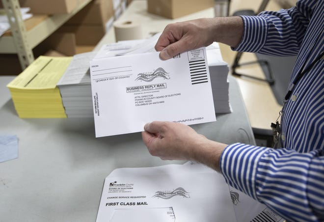 Steuben County Board of Elections commissioners Veronica Olin (R) and Kelly Penziul (D) said the board so far has received more than 4,600 absentee ballot applications.