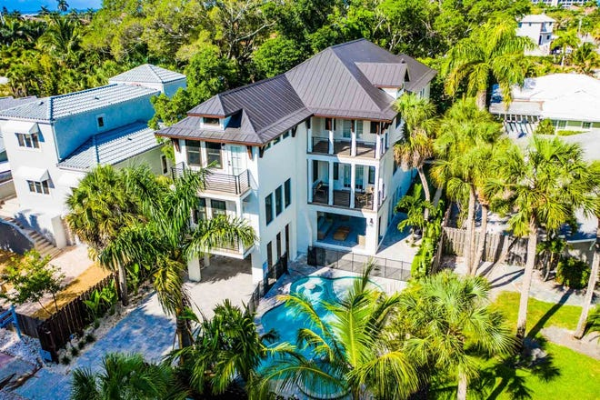 """A new """"hotel house"""" on St. Armands Key."""