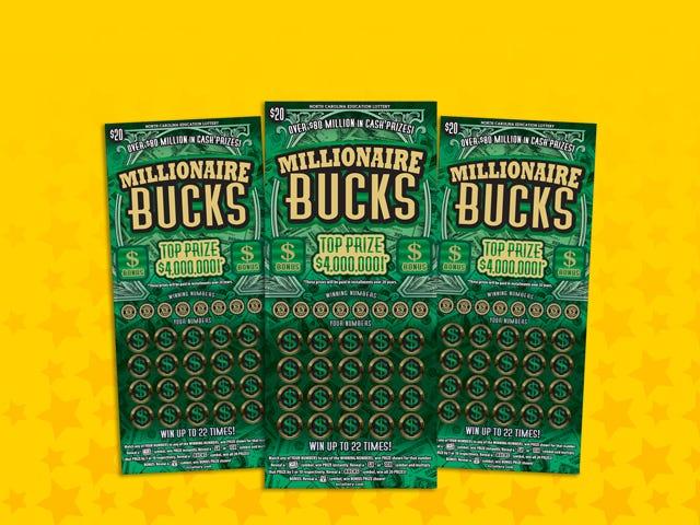 Lynn Stephenson won $100,000 playing the North Carolina scratch-off game Millionaire Bucks.