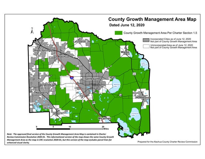 An amendment on the fall ballot would establish a County Growth Management Area. On land within the area, the county's Comprehensive Plan and land development regulations would exclusively govern land development, even if a parcel of land is later annexed into the boundaries of a city.