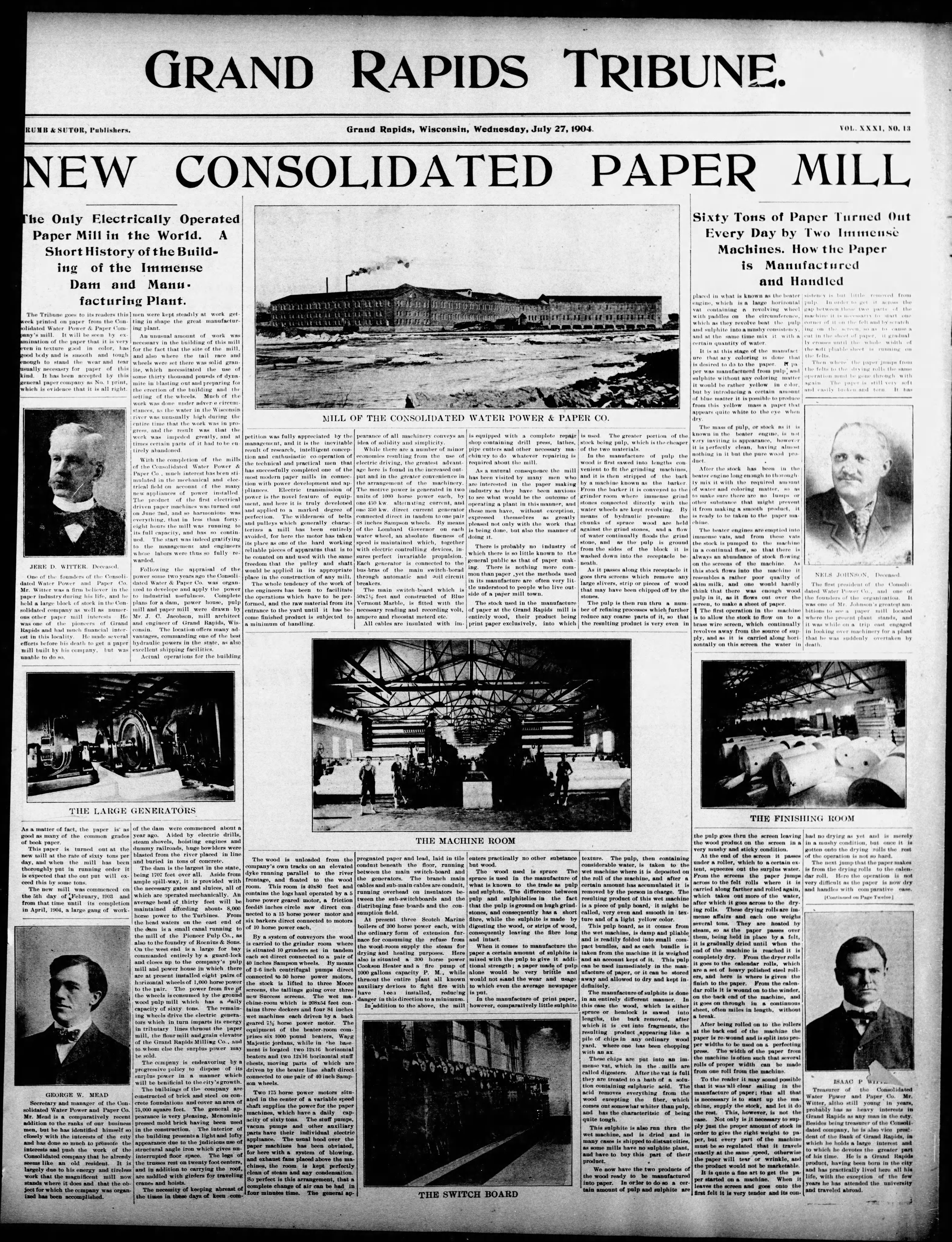 Consolidated Papers Wisconsin Rapids NOS Tape Measure Consolidated Paper Mill