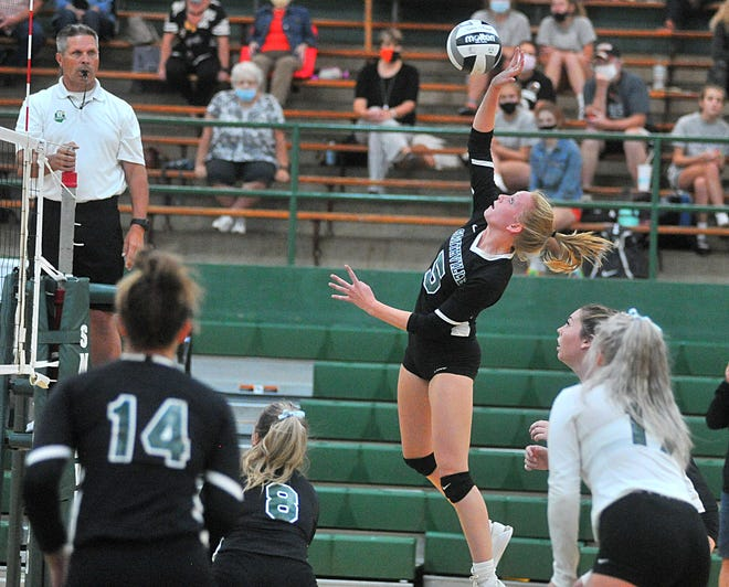 Brooke Fatzinger has led Smithville's attack during its 23-1 season, averaging 4.6 kills per set, including a 24-kill performance in a district final win over Waynedale.
