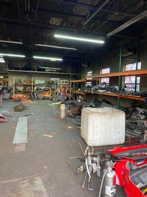 The shop's interior