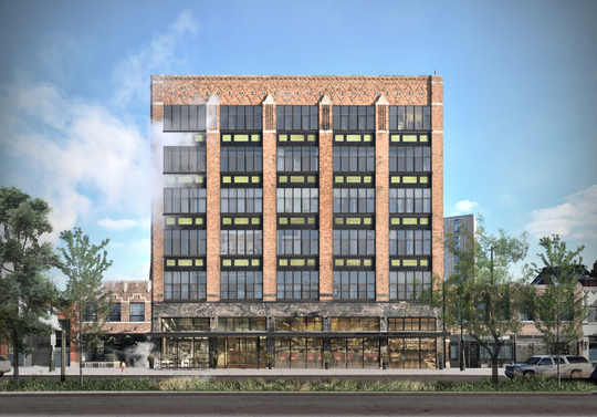 Rendering of 1440 Gratiot, which will be converted into residential lofts in Detroit's Eastern Market neighborhood. The 30-unit residential development will be known as The Atlas Lofts.