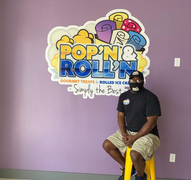Rodney Robertson is the owner of Pop'n & Roll'n, which had a soft opening at its new location at 151 Edgefield last month. The popcorn and rolled ice cream store will have its offical grand opening Sept. 25.