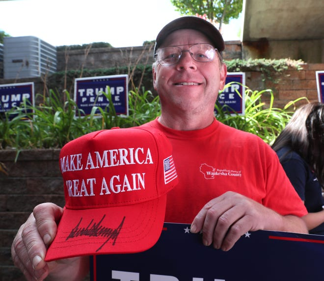 Rich Thom of Menomonee Falls was awarded a MAGA hat signed by President Donald Trump in mid-September for being a top campaign volunteer.