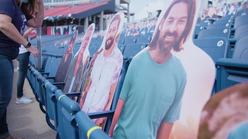 TItans place fan cut-outs in stands ahead of Sunday's home opener vs. Jaguars
