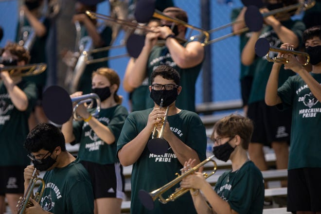 Palmetto Ridge High School football team takes on Naples High School on Thursday, Sept. 17, 2020.