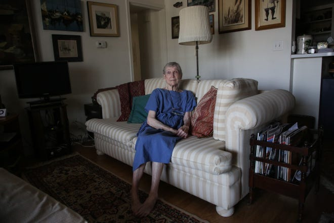 Rancho Mirage resident, Julia Weaver, 89, sits in her living room during the COVID-19 pandemic on Thursday, September 17, 2020. As a precaution, she has stayed inside her home for the duration of the COVID-19 pandemic.