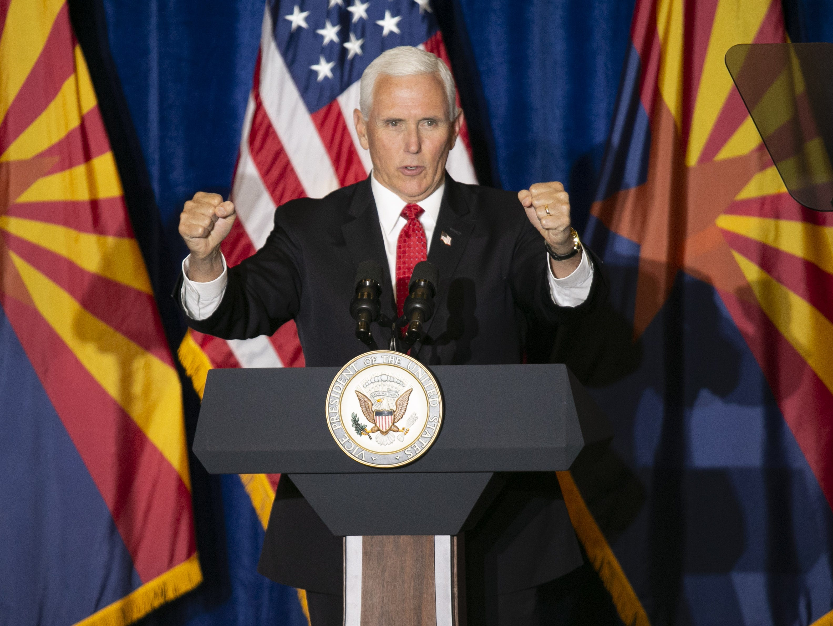 "Vice President Mike Pence visits Arizona again for ""Veterans for Trump"" event"