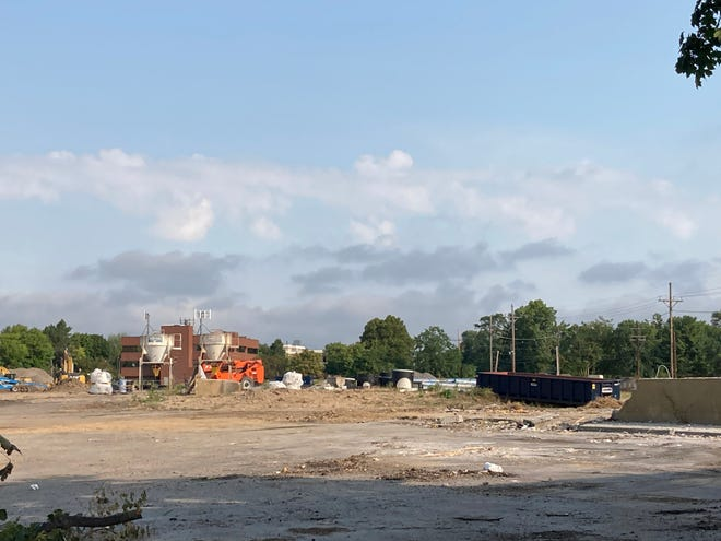 Early construction underway at Brighton Whole Foods Plaza