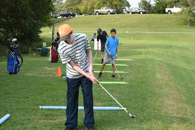 Players take part in a First Tee Shenandoah Valley golf class at Staunton's The Club at Ironwood.