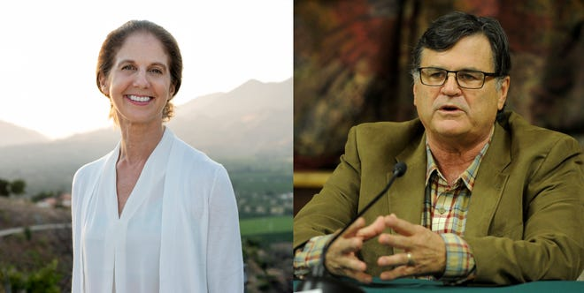 Betsy Stix and William Weirick are running for the Ojai Mayor's seat in November.