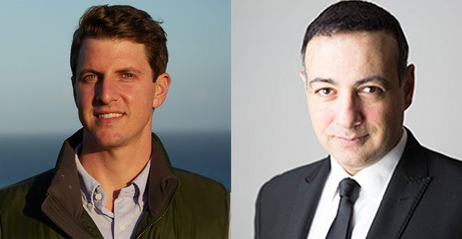 Henry Stern (left) and Houman Salem are  running to represent the California State Senate's 27th District in November.