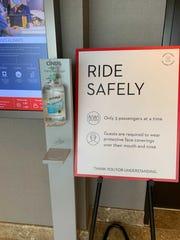 The Grand Hyatt in Washington provides hand-sanitizing stations.