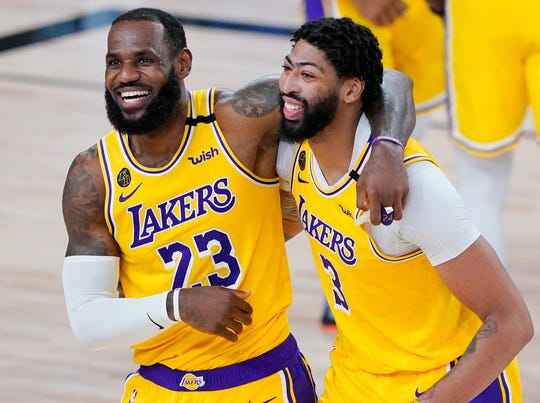 LeBron James and Anthony Davis are averaging a combined 54.2 points per game in the playoffs.