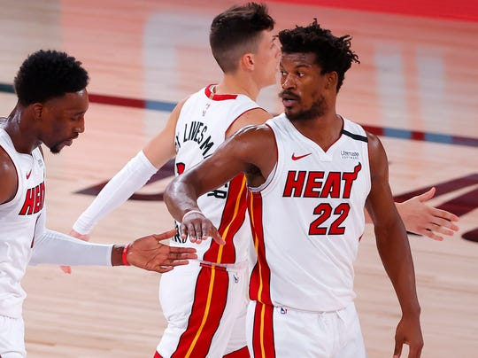 Jimmy Butler and the Heat are 10-1 thus far in the playoffs.