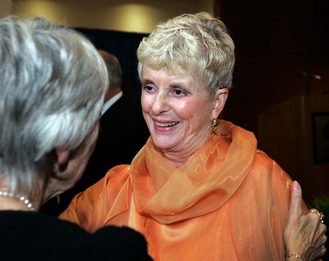 Ann Brennan, widow of the late Akron industrialist and philanthropist David L. Brennan, has donated $2.5 million to the Case Western Reserve School of Law. [Beacon Journal file photo]