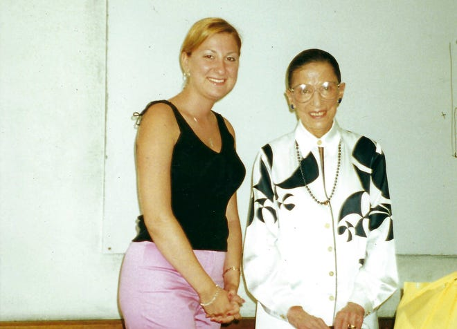 Antonetta Stancu, of Doylestown,met Supreme Court Justice Ruth Bader Ginsburg in France in 2003 when she took a summer course in comparative constitutional law the justice taught at a university in Nice.