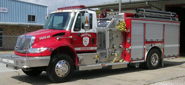 Lafourche Fire District 1 fire truck.