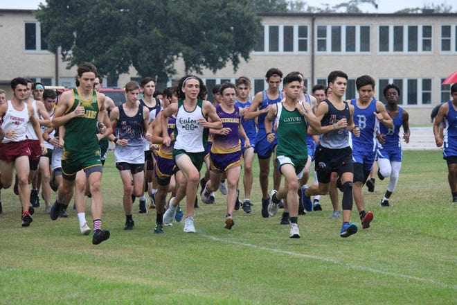 Local cross country runners compete at the second meet hosted by Terrebonne High School on Sept. 19.