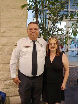 Volusia County Emergency Medical Services Gerald Jones and his wife Emily in this undated photo. Jones has been hospitalized at Halifax Health Medical Center, battling COVID-19. Photo submitted Saturday, Sept. 19, 2020