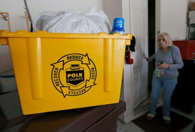 Polk County recycling bin.