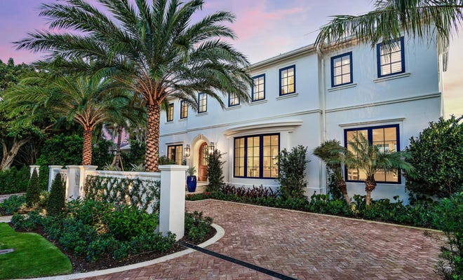 At 250 Indian Road in Palm Beach, a five-bedroom house developed on speculation and completed this year has sold for a recorded $7.65 million. [Photo courtesy of Premier Estate Properties]