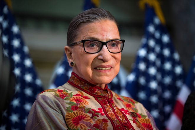 Justice Ruth Bader Ginsburg in March 2015.