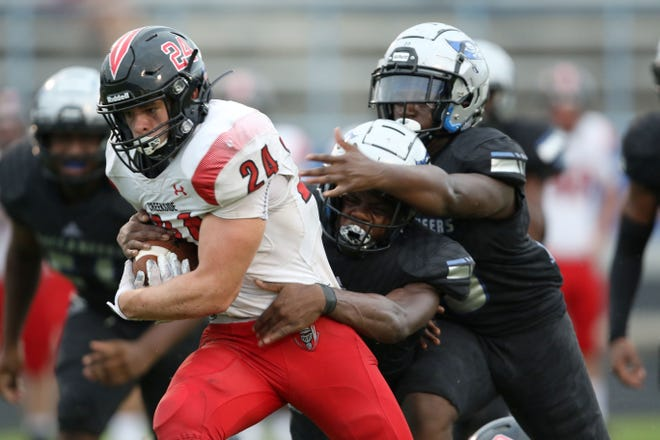 Creekside RB Preston Strope rushed for 214 yards and three touchdowns in a victory over Nease on Friday night.