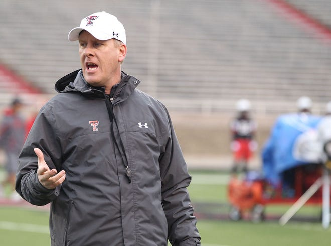 Former ACU head coach Chris Thomsen, shown here while working as an assistant at Texas Tech, will be Florida State's interim head coach, after Seminoles' head coach Mike Norvell tested positive for COVID-19 on Friday.