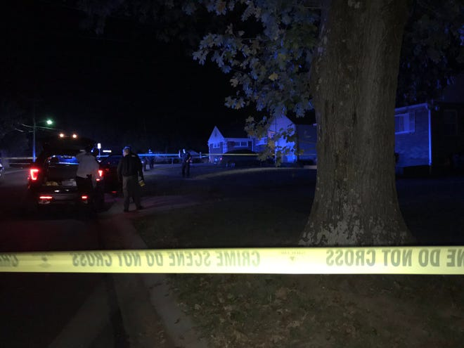 Police are at the scene of a reported shooting at a house Friday night in Springfield Township in the 1100-block of Hempstead Drive.
