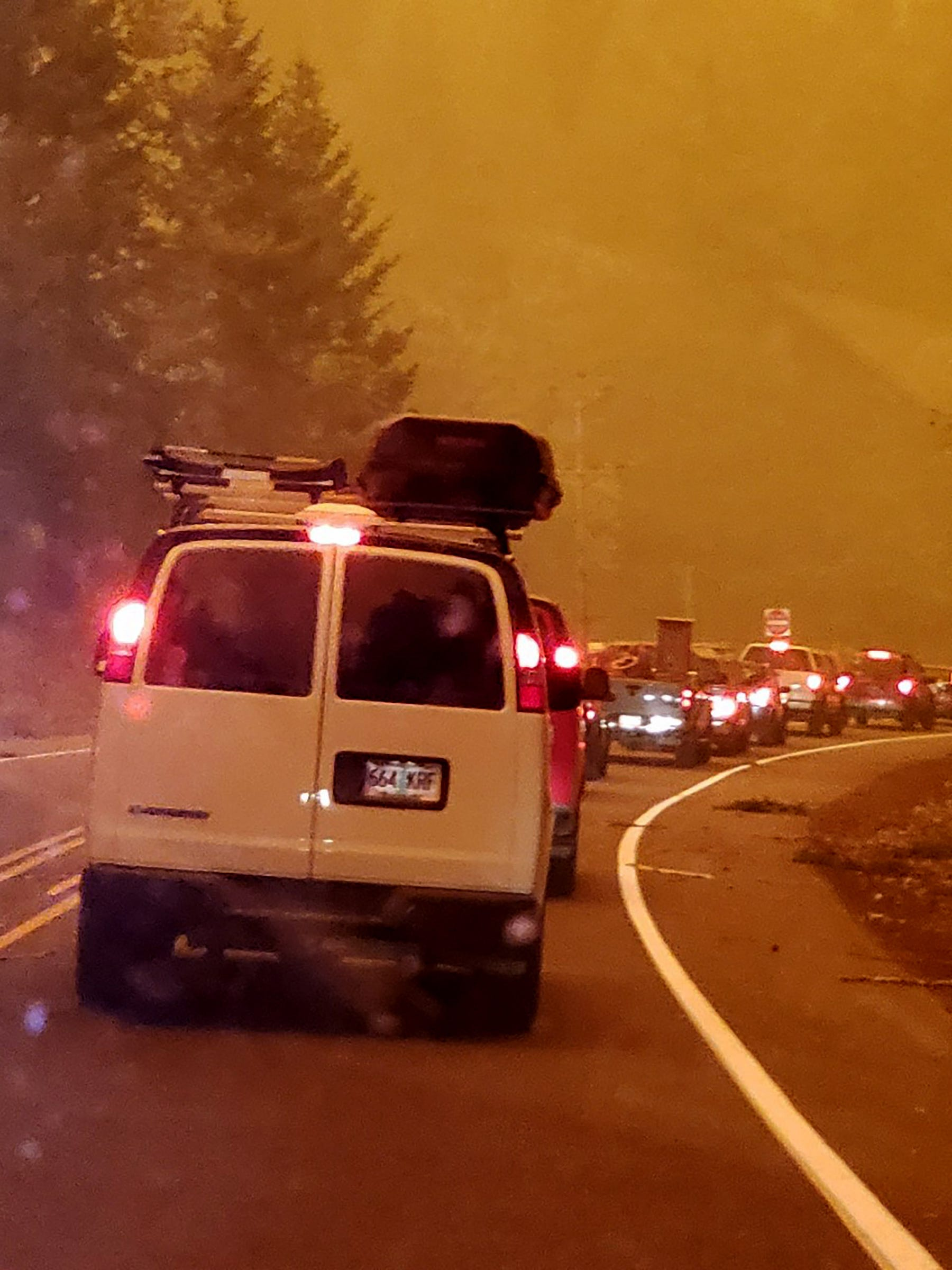 A series of random events save one couple from an approaching wildfire in Oregon