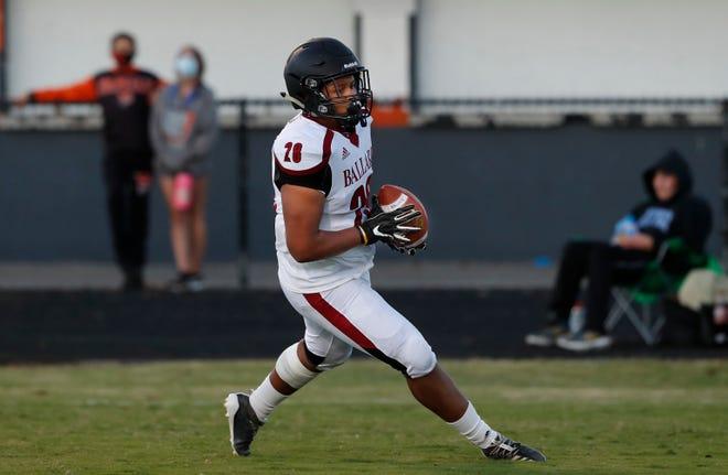 Ballard's Kenton Jackson scores a touchdown in the first quarter against Fern Creek.09/18/20