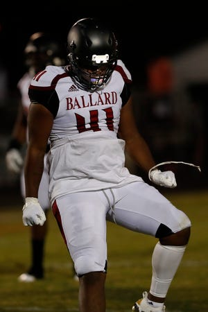 Ballard's Josiah Jackson celebrates.09/18/20