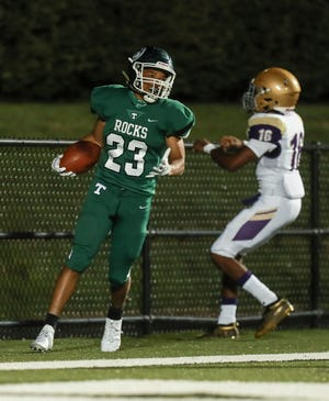 Action from the Trinity-Male football game Friday evening. Sept. 18, 2020