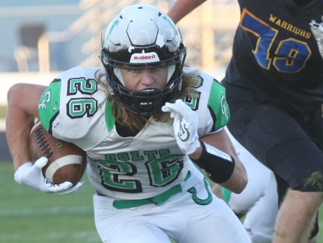 Clear Fork's Ashton Lyon nearly led the Colts to a playoff win at Edison on Saturday night.