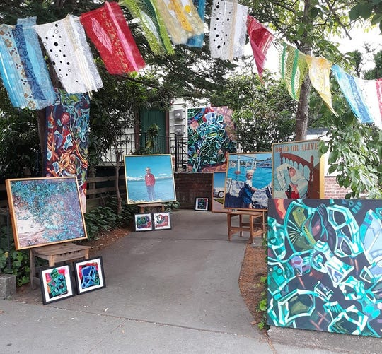 The WTF Outdoor Gallery, located on the west side of Jersey City, will display the works of artists Alan Walker and Mollie Thonneson during the Jersey City Art and Studio Tour in October.