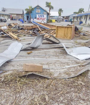 Paradise Inn and Paradise Bar and Grill were damaged when Hurricane Sally made landfall last month as a Category 2 hurricane.