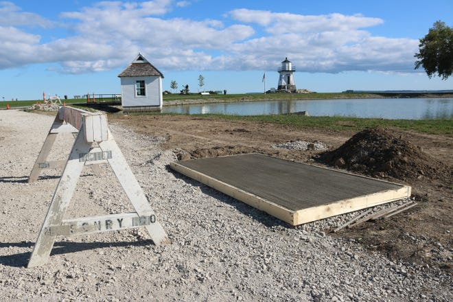 The Port Clinton Lighthouse Conservancy is continuing its landscaping plan for the area of the park surrounding the historic structure with a new walkway and other enhancements.