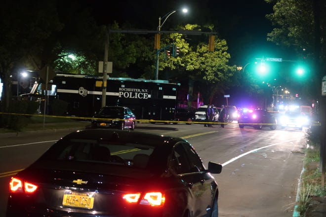 Rochester police responded early Saturday, Sept. 19, 2020, to reports of a shooting near the intersection of Goodman Street and Pennsylvania Avenue, not far from the Public Market.