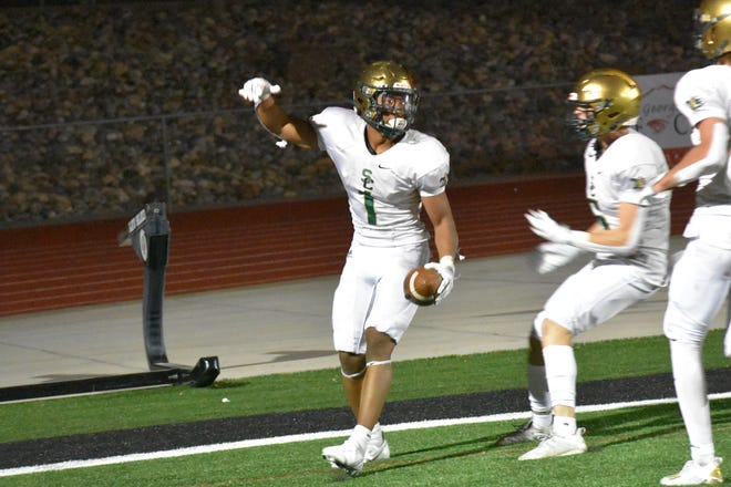 Snow Canyon's Bretton Stone willed the Warriors to a win Friday with a three-touchdown, 212 total-yard performance.