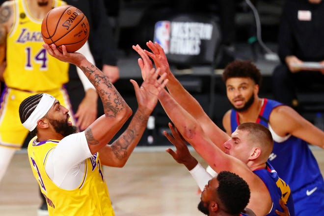 Anthony Davis Shines Lakers Blitz Nuggets In Game 1 Of West Finals