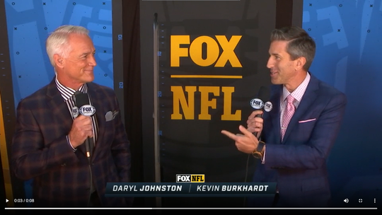 Kevin Burkhardt and Daryl Johnston called their first game together during Week 1 of the 2020 NFL season.