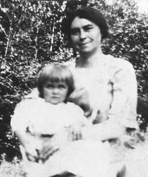 Young Mildred Geraldine Schappals in 1921.
