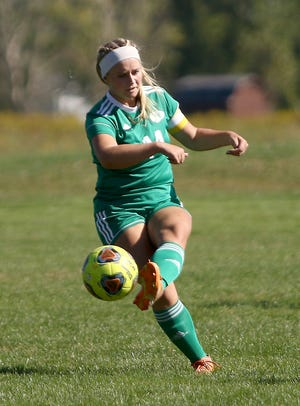 West Branch's Maci McLean against Canfield during soccer action at West Branch High School on Saturday, September 19, 2020.