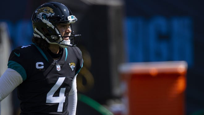 Jaguars kicker Josh Lambo botched a squib kickoff attempt and missed a conversion attempt during Sunday's game at Tennessee. Brett Carlsen/AP