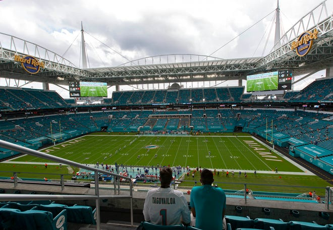 Attendance for the Dolphins' home opener against the Bills on Sunday was announced as 11,075.